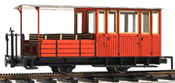 Austrian BRB B21 2-axle coach, half open, red