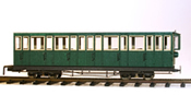 4 axle 15 window closed platform coach, green