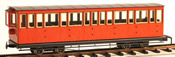 4 axle 15 window closed platform coach, red