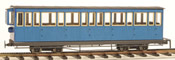4 axle 15 window closed platform coach, blue