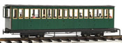 4axle coach, green, closed platform,w/passengers