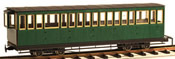 4axle 17 window coach, closed platf., green