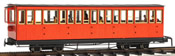 4axle coach, red, closed platf., with passenghers
