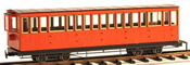 4axle 17 window coach, closed platf., red