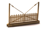 Door for wood fence, brass kit