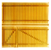 Wood picket fence with a gate, brass kit