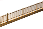 Wood stake fence, brass kit