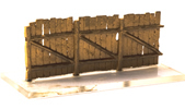 Wood fence, planks, brass kit