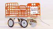 Garbage trolley, red, ready made model