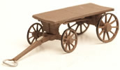 Baggage cart with spoked wheels, ready made model