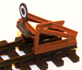Buffer stop f. NG (H0e) , ready made model