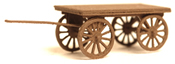 Baggage cart with spoked wheels