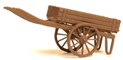2-wheel hand cart, brown, ready made model
