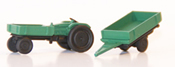 FENDT tractor w. trailer, ready made model