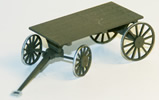 Baggage cart w.. spoked wheels