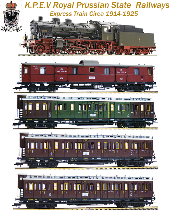Fleischmann 3917731 - German Prussian Era I Express Train