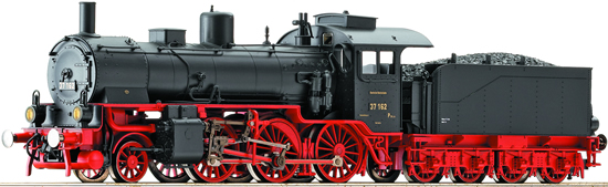 Fleischmann 413704 - Steam locomotive BR 37 162, DRG blk/red livery