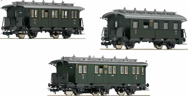 Fleischmann 481804 - German 3pc Passenger Coach Branch Line Set 1