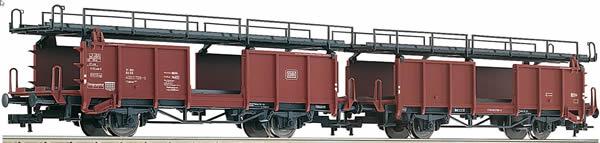 Fleischmann 522401 - 2pc Double Decker Car Carrying Wagon type Laaes 541