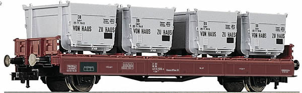 Fleischmann 523301 - Container Carrier Wagon type Lbs 583