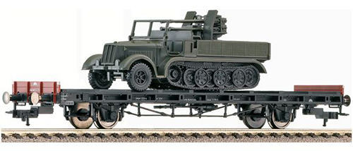 Fleischmann 523610 - Flat wagon S14, w. mini tank