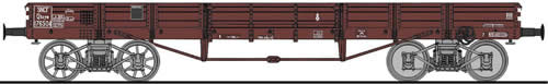 Fleischmann 526201 - Low sided wagon 4 axle, SNCF