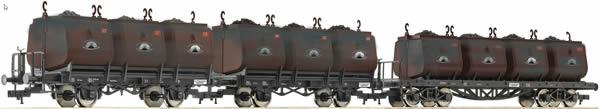 Fleischmann 526505 - 2pc Coal Bucket Car Set