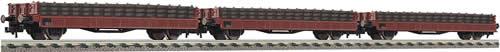 Fleischmann 581209 - Set: wagons transport. of ties, DR