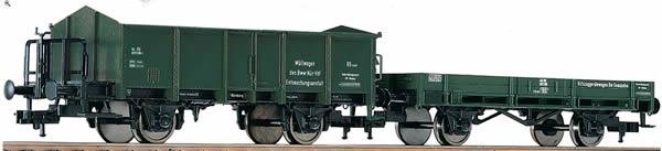 Fleischmann 591002 - 2pc Freight Car Set Müllwagen