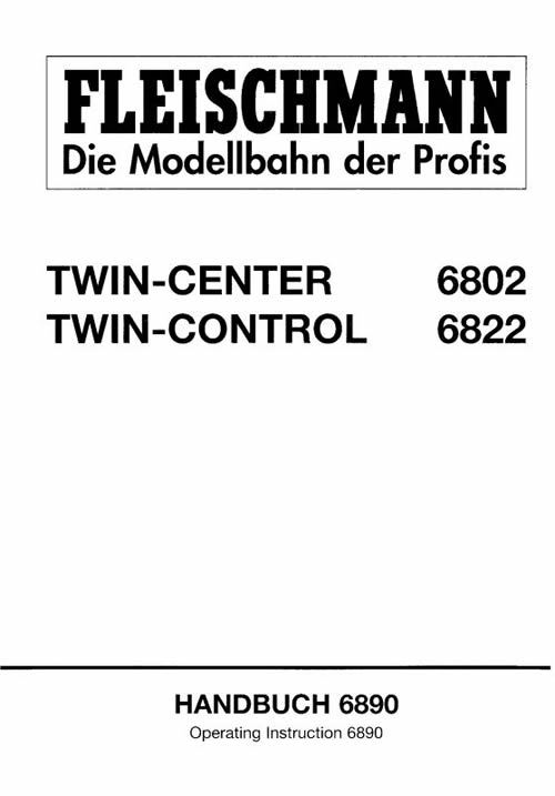 Fleischmann 6890 - TWIN CENTER HANDBOOK