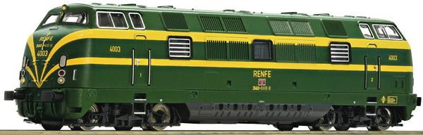 Fleischmann 725010 - Spanish Diesel locomotive series 340 of the RENFE