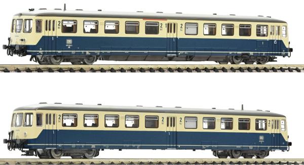 Fleischmann 740101 - German Accumulator rail car class 515 with control cab coach of the DB