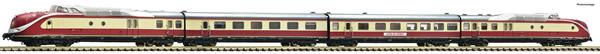 Fleischmann 741005 - German 4 piece set: Diesel multiple unit class 601 of the DB