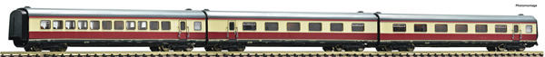 """Fleischmann 741006 - 3 piece set: Additional coaches matching the """"Alpen-See-Express"""""""