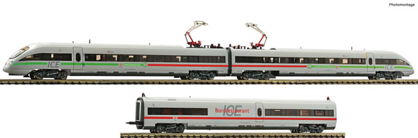 Fleischmann 746072 - German 3-piece set: Electric EMU ICE class 411 of the DB AG (Sound)