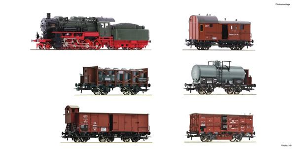 """Fleischmann 781210 - German 6 piece set """"Prussian goods train"""" of the KPEV"""