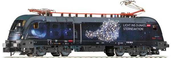 Fleischmann 781772 - Austrian Electric Locomotive Rh 1116 Licht ins Dunkel of the ÖBB (Sound)