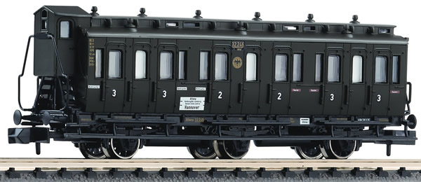 Fleischmann 806504 - 3-axled 2nd/3rd class compartment coach with brakeman's cab, type BC3 pr03 DRG