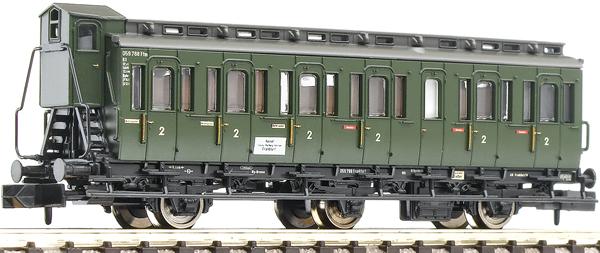 Fleischmann 807001 - 3-axled 2nd class compartment coach with brakeman's cab, type C3 pr11 DB