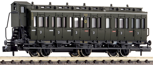 Fleischmann 807005 - 3-axled 3rd class compartment coach with brakeman's cab, type C3 pr11 DRG