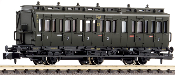 Fleischmann 807006 - 3-axled 3rd class compartment coach, type C3 pr11 DRG
