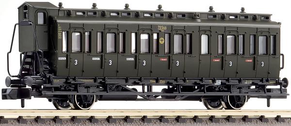 Fleischmann 807104 - 2-axled 3rd class compartment coach with brakeman's cab, type C pr21 DRG