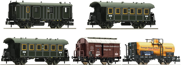 "Fleischmann 809003 - German ""Goods train with passenger transportation (GmP)"" of the K.Bay.Sts.B"