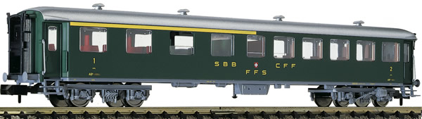 Fleischmann 813804 - 1st/2nd class express train passenger coach type AB (conversion car) SBB