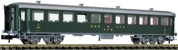 Fleischmann 813908 - 2nd class express train passenger coach type B (conversion car) SBB
