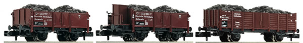 Fleischmann 820802 - 3 piece set coal train DRB