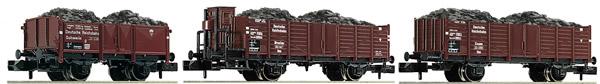 Fleischmann 820803 - 3 piece set coal train DRB