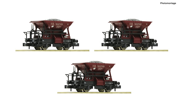 Fleischmann 822706 - 3 piece set ballast wagons