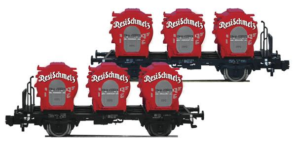 Fleischmann 823302 - German Container Car Set Resi Schmelz of the DB