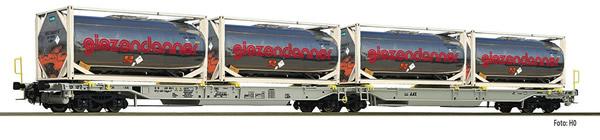 Fleischmann 825009 - 2pc Articulated double pocket wagon T2000 AAE